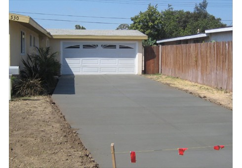 Concrete Driveway Newly Poured & Curing